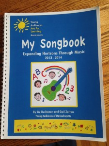 The songbook we created for Horizons for Homeless Children.