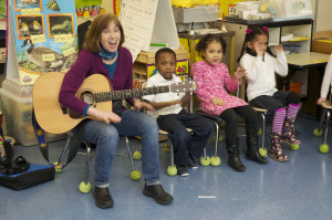 Singing in the classroom can have a strong connection to enhanced early literacy skills.