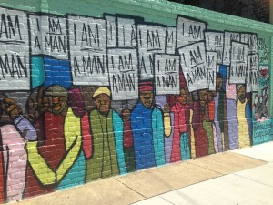 Mural from Memphis, near the hotel where Martin Luther King was assassinated.
